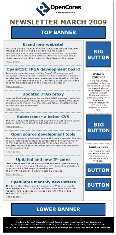 Banner advertising in OpenCores Newsletter