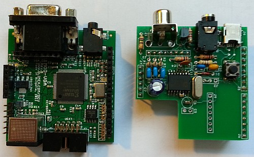 Gameduino-based ZX clone: top view